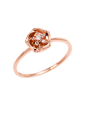 [14K Gold]산샤 플라워 반지Sansha flower ring j3809