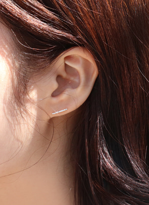 14K 볼륨 라인 귀걸이 14K Volume Line Earring