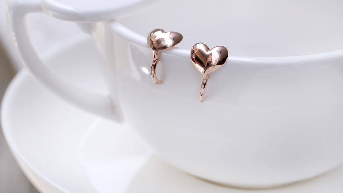 [14K/18K] 하트 벌룬 귀걸이Heart Balloon Earring