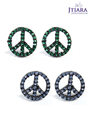 [14K Gold] 빅 러브 앤 피스 귀걸이 Big Love & Peace Earrings no.31