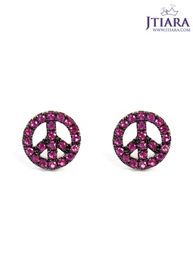 [14K Gold] 러브 앤 피스 귀걸이 Love & Peace Earrings no.30