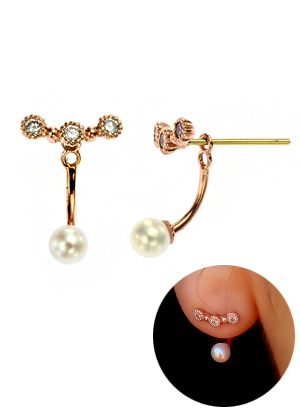[14K Gold] 시크릿 포인트 귀걸이 Secret Point Earring no. j3857