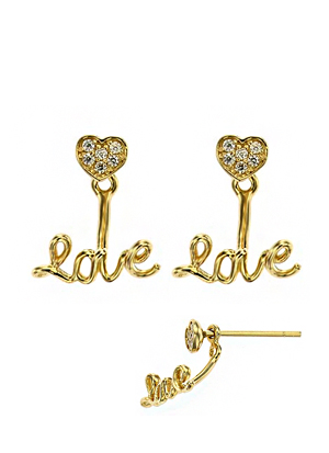 [14K Gold] 러브 하트 귀걸이 Love Heart Earring no. j3059