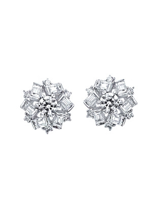 [14K Gold] 윈터 플라워 귀걸이 Winter Flower Earring no. j3650