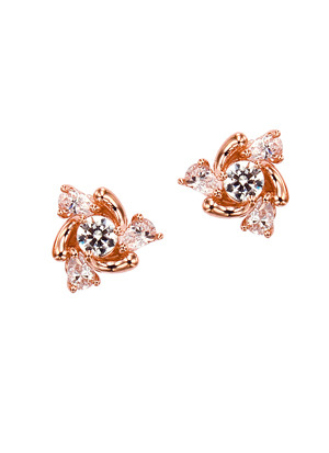 [14K Gold] 쁘띠 플라워 귀걸이 Petit Flowers Earring no.j3390