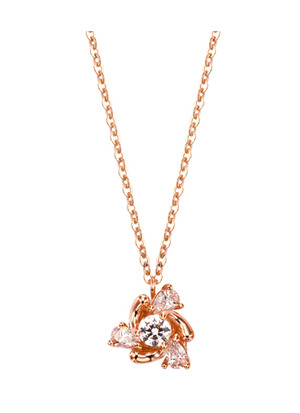 [14K Gold] 쁘띠 플라워 목걸이 Petit Flower Necklace no.j3390
