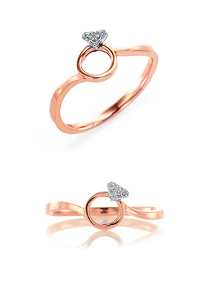 [14K Gold] 다이아 뮤즈 반지 Dia Muse Ring no.j3629