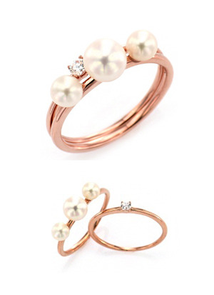[14K Gold] 펄 샤이니 반지 Pearl Shiny Ring no.j3948