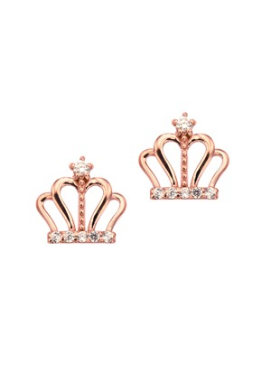 [14K Gold] 큐트 크라운 하트 귀걸이 Cute Crown Heart Earring no.j3703