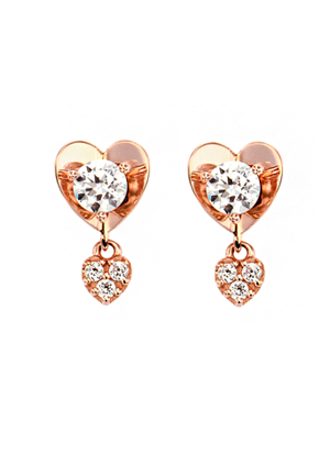 [14K Gold] 마이 스파크 하트 귀걸이 My Spark Heart Earring no.j3211
