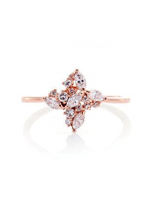 [14K Gold] 글램 플로랄 반지 Glam Floral Ring no.j3702