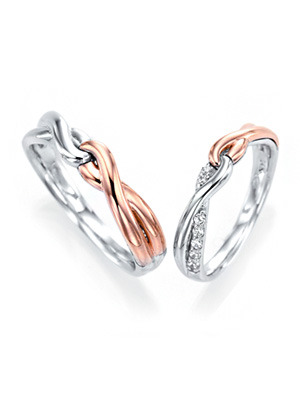 [14K Gold] 팔로우 미 커플링 Fllow Me Couple Ring no.j3238