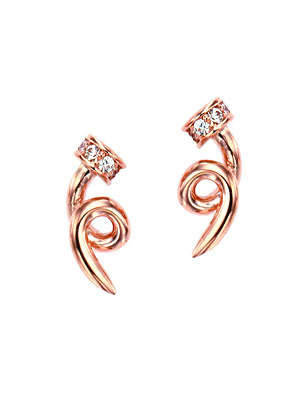[14K Gold]파포 테일 이어링Papo tail earrings j3330